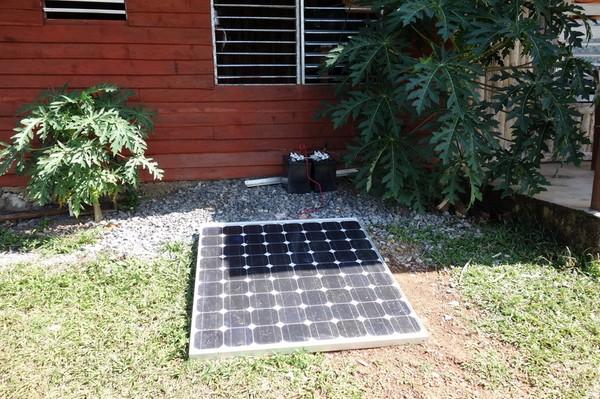 Alstrande av solenergi i Valle de Viñales.