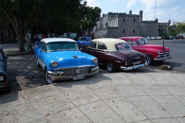 Amerikanska bilar, Chacon, Habana Vieja, Havanna.