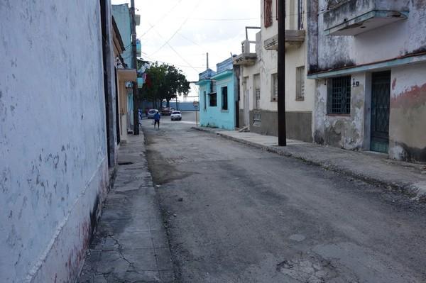 Gatuscen i stadsdelen Regla, Havanna.