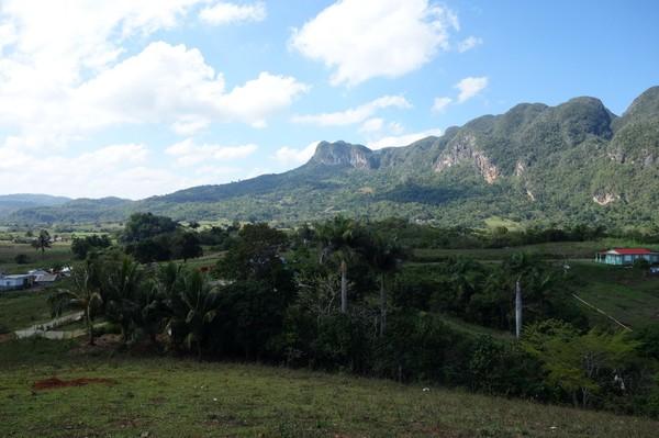 Utsikt över Valle de Palmarito, Valle de Viñales.