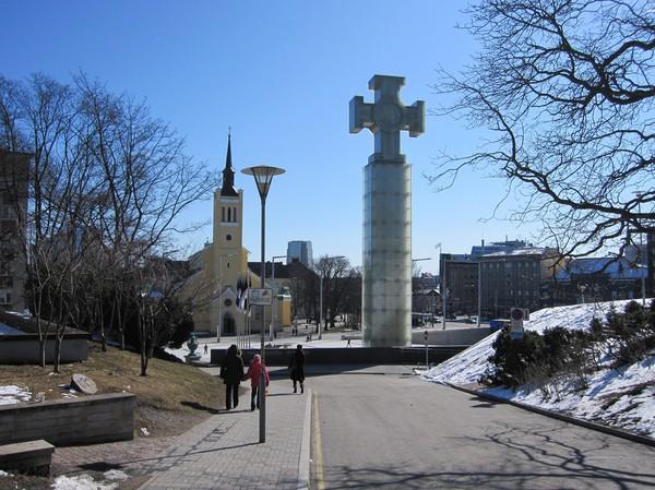 Självständighetssymbol, gamla staden, Tallinn.