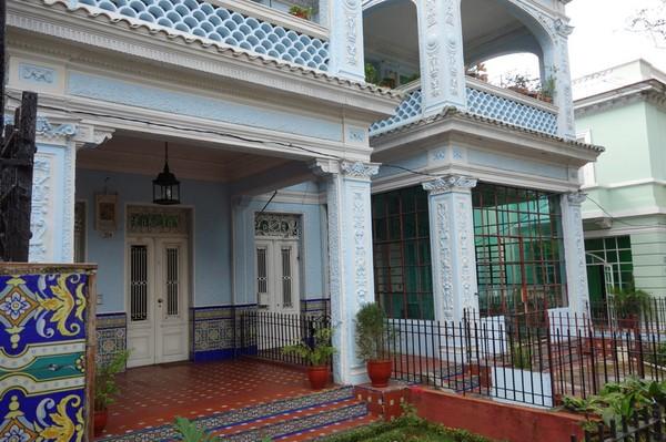Vackra bostäder i Vedado, Havanna.