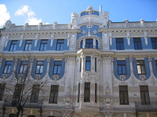 Tysk Art Nouveau-arkitektur, Riga.