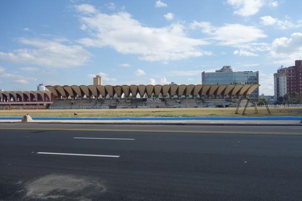 Parque José Martí Stadium längs Malecon, Havanna.