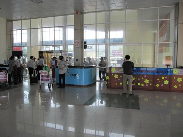 En av de minsta flygplatserna jag någonsin varit på (förutom El Nido på Palawan i Filippinerna), Con Son island.