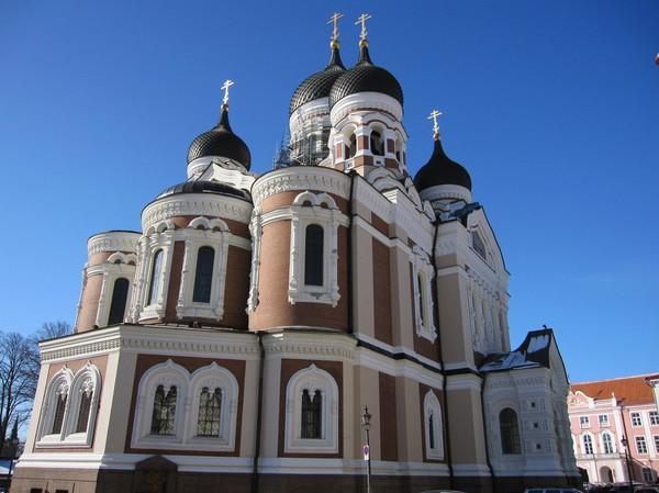Ståtliga Alexander Nevski katedraal, Toompea (domberget), gamla staden i Tallinn.