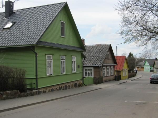 Arkitektur i Trakai på väg till slottet, Trakai.