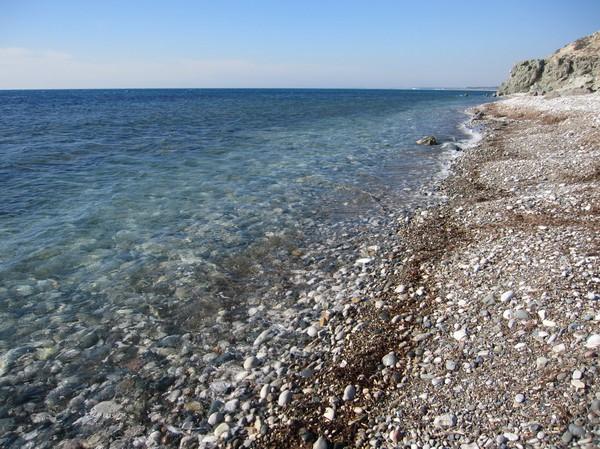 Naturen i närheten av Aphrodite's Rock på Cyperns sydkust.