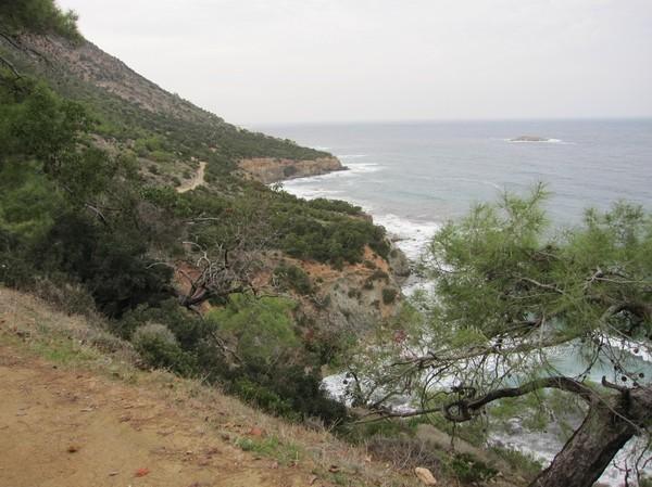 Längs Aphrodite trail, Akamas peninsula.