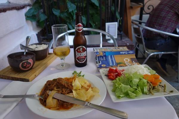 Lunch på Doña Eutimia, Habana Vieja, Havanna.