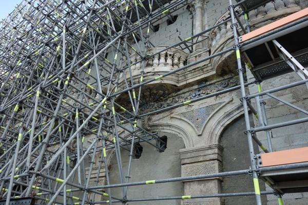 Renovering av byggnader längs Malecon, Havanna.