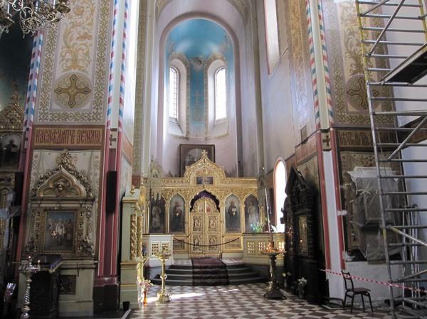 Inne i Alexander Nevski katedraal, Toompea (domberget), gamla staden i Tallinn.
