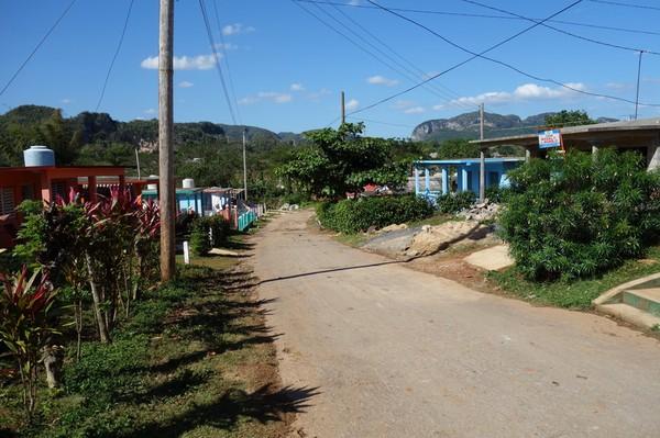 Tillbaka i Viñales igen efter att ha vandrat hela dagen i Valle de Viñales.