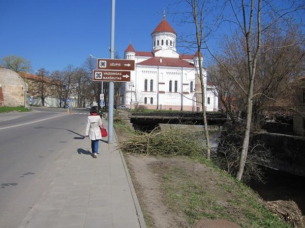 På väg till republiken Užupis, Vilnius.