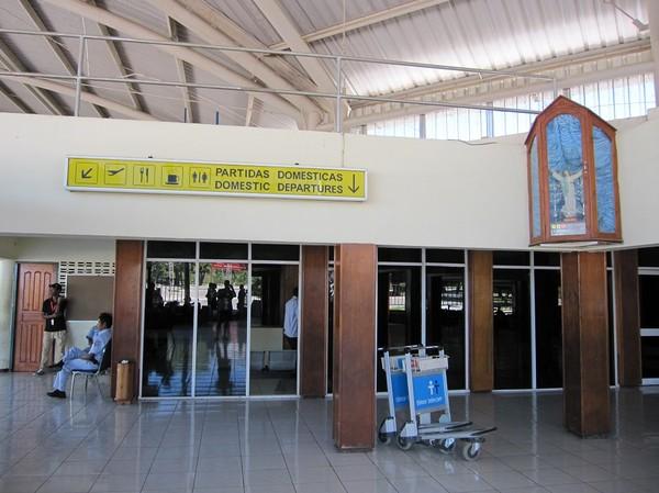 En rolig bild med tanke på att det inte finns något kommersiellt inrikesflyg för allmänheten i Timor-Leste.