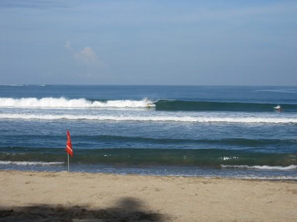 Världsberömda Kuta beach, Bali.