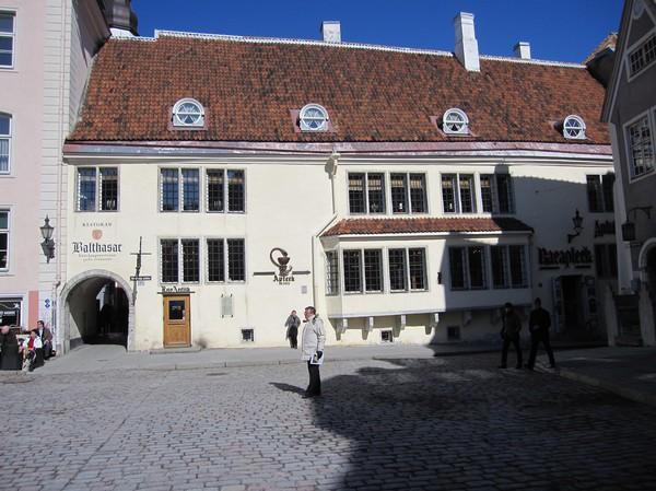 Raeapteek, ett av de äldsta ännu fungerande apoteken i Europa från 1400-talet, gamla staden, Tallinn.
