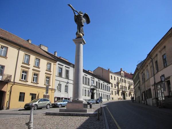 Ärkeängeln Gabriel i Užupis, Užupis, Vilnius.