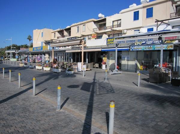 Strandpromenaden i Pafos, Cypern.
