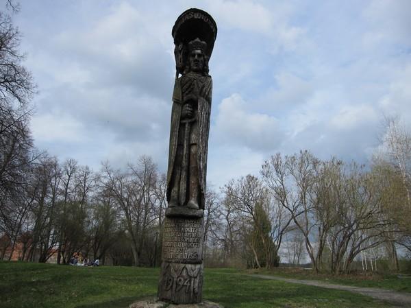 Totempåle på väg till slottet, Trakai.
