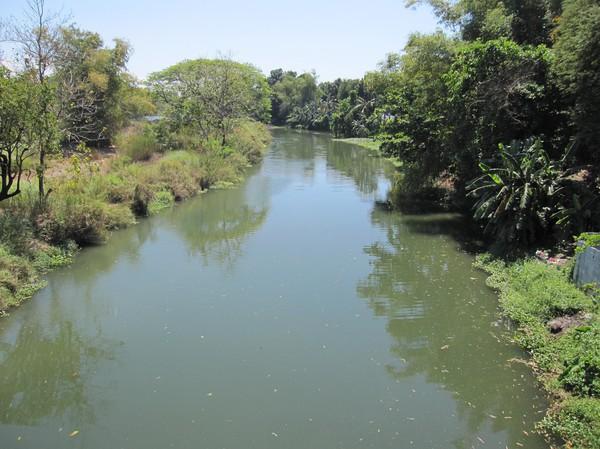 Mestizo river, Vigan. Den här floden var mycket viktig för handeln under kolonialtiden.