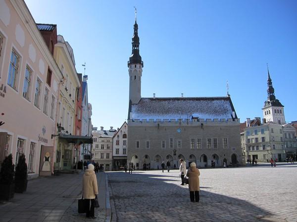 Stadshuset på Raekoja plats, gamla staden, Tallinn.