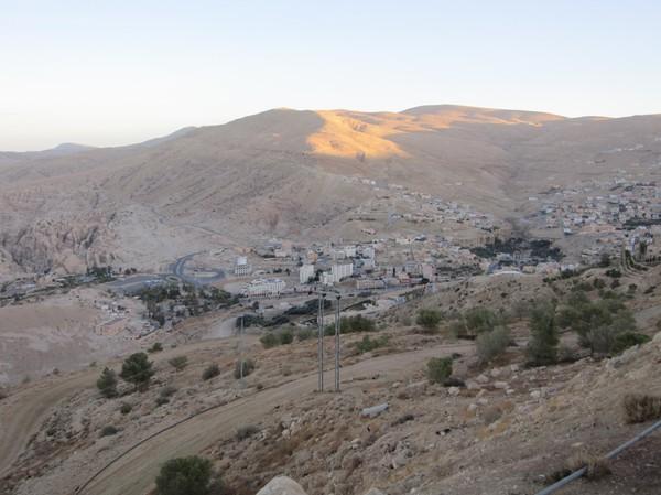 Petra ifrån ovan, Jordanien.