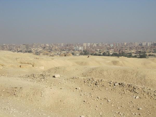 Del av Kairo uppifrån Giza höjden.