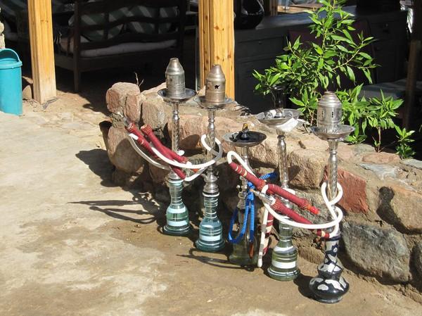 Vattenpipor, Dahab, Sinai, Egypten.