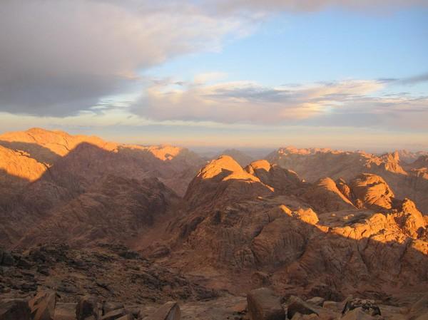 Vy från toppen av Mount Sinai.