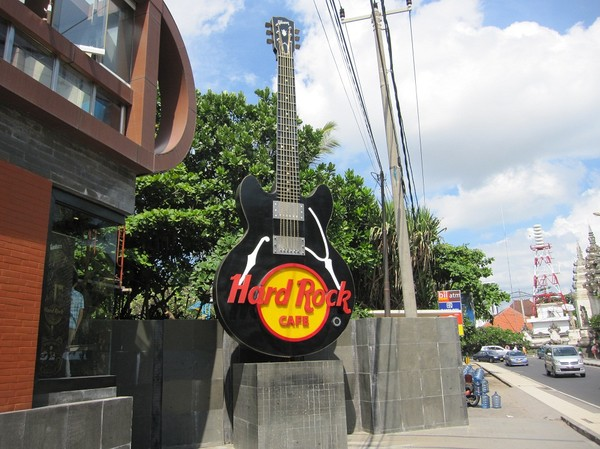 Hard rock café, Kuta beach, Bali.
