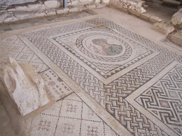 Mosaik i antika Kourion, Cyperns sydkust.