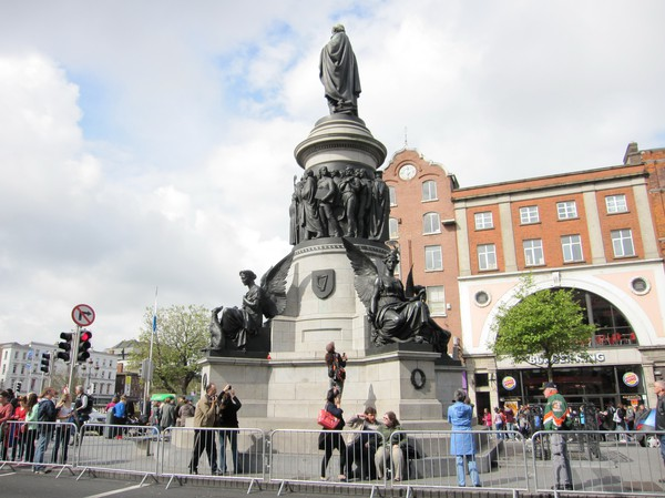 The O'Connell monument, Dublin, Irland.