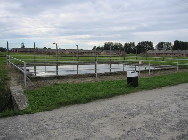 Dessa bassänger med vatten användes av SS för att bekämpa bränder.