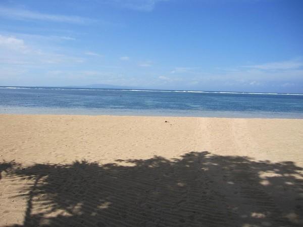 Stranden vid Bali Hyatt, Sanur beach, Bali.