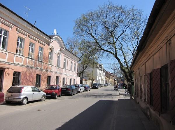 Gatuscen i Užupis, Užupis, Vilnius.