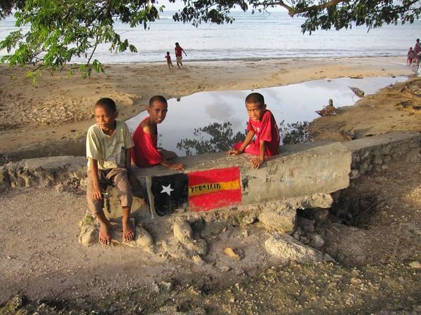 Partiet Fretilin har starka fästen i östra delen av landet, Com, Timor-Leste.