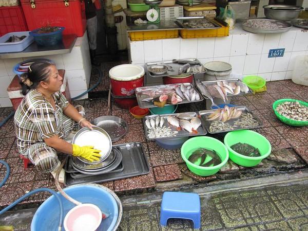 Ben Thanh market, Saigon.