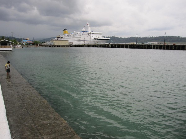 Hamnen i Subic Bay Freeport Zone.