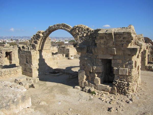 Saranta Kolones Fortress, Pafos archeological site.