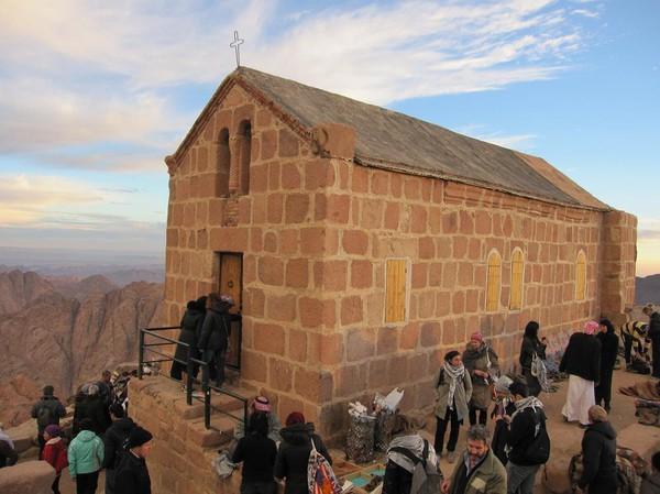 Grekisk-Ortodoxa kapellet på toppen av Mount Sinai.