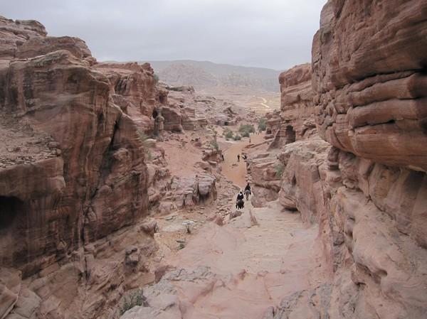På väg upp till Ad-Deir (Monastery), Petra.