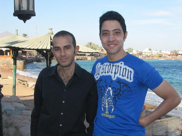 Mina vänner Khaled och Muhammed, Dahab, Sinai, Egypten.