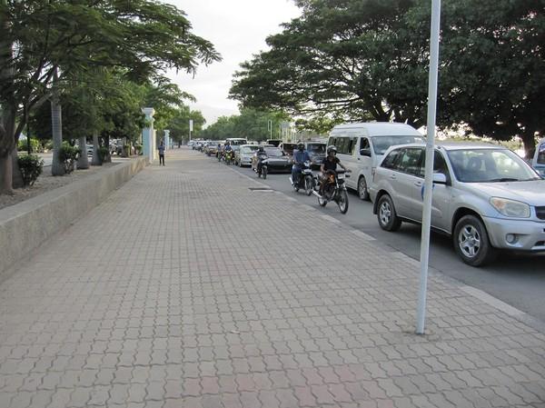 Dramatisk trafikökning de senaste tio åren, centrala Dili.