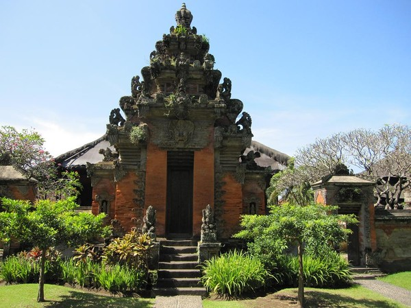 Bali museum i centrala Denpasar, Bali.