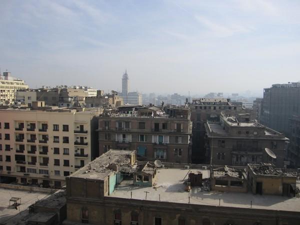 Utsikt från mitt hotellrum i morse. Vackert? Vet inte det.