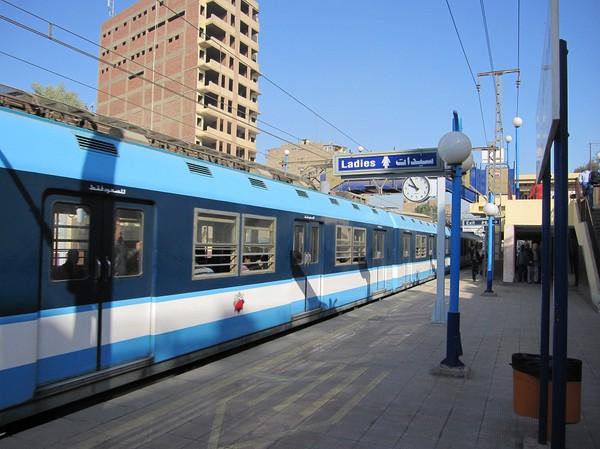Första gången jag åker tunnelbana i Kairo. Det är nog den billigaste jag åkt i mitt liv i alla fall. 1.20 kr per biljett!
