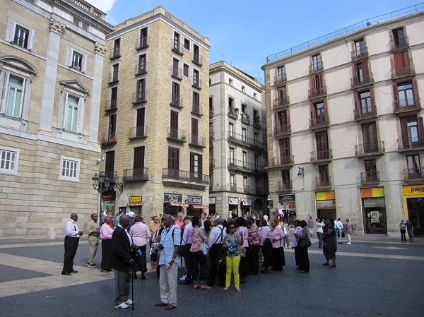 Plaça de Sant Jaume, La Ribera, Barcelona.