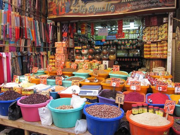 Kryddförsäljning i islamic Cairo, Kairo.