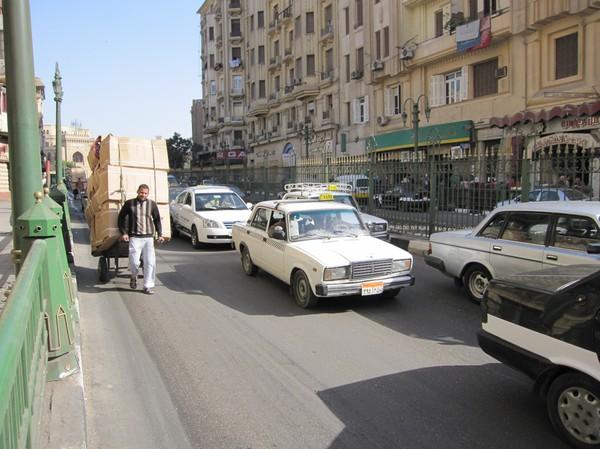 Gatuscen i Kairo.